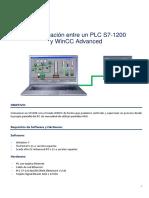 Comunicacion Scada PLC S71200- Wincc Advance Tia Portal