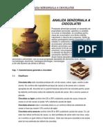 Analiza Senzoriala a Ciocolatei