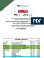 Listado Elite Perfumes