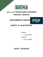Consulta 1 Manteniemiento Industrial Juan Tonato