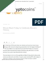 Bitcoin Black Friday to Celebrate Bitcoin's History
