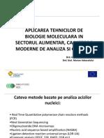 Aplicarea tehnicilor de biologie molecular in alimenatie