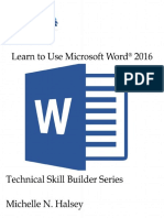 Learn to Use Microsoft Word 2016