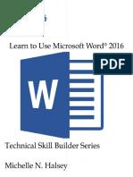 Learn to Use Microsoft Word 2016