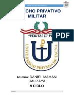 Derecho Privativo Militar Caso Ariza