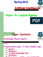 Topic - 6 (Logical Agents).ppt