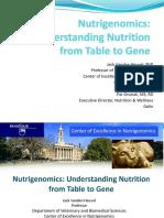 Nutrigenomics-Understanding Nutrition From Table to Gene