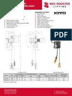 Electric Chain Hoist ER2 020 Single