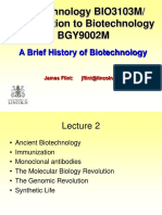 Biotechnology- History of Biotech