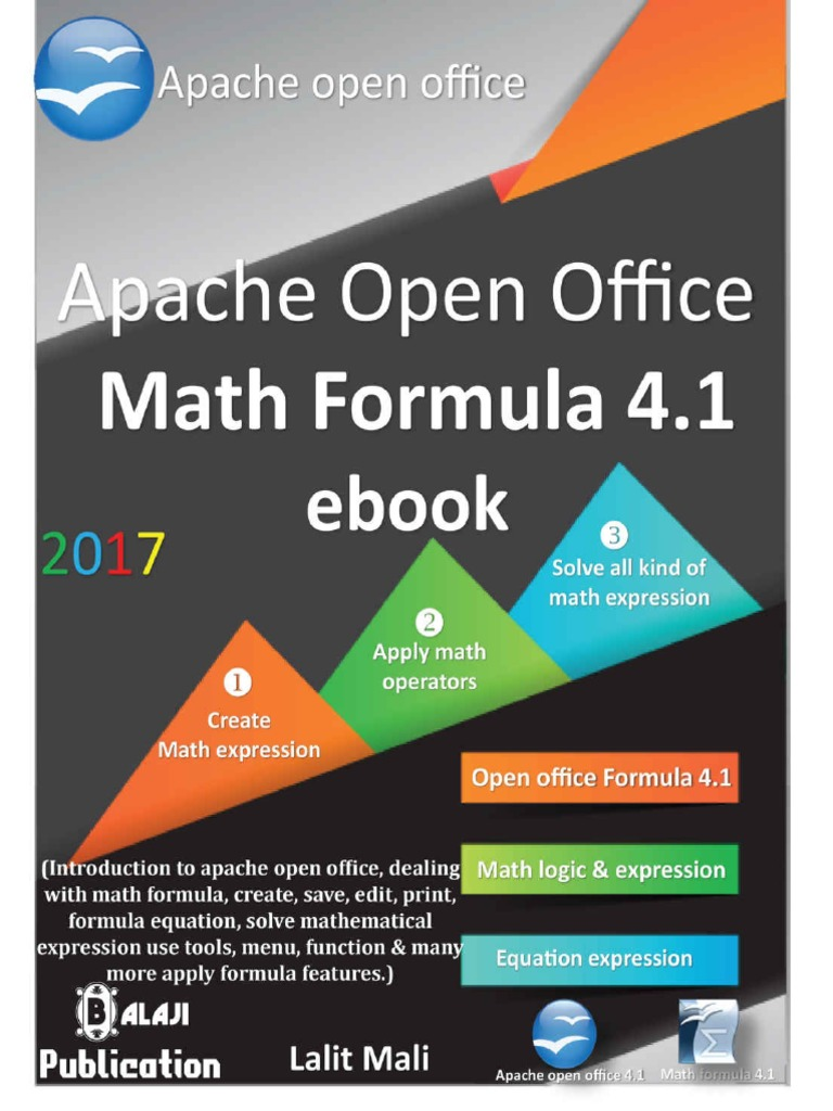Apache Open Office Formula 4 1 eBook | Portable Document