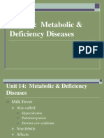 Unit 14 Metabolic & Deficiency Diseases