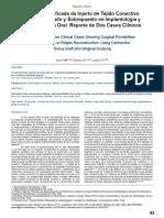 Técnica Modificada de Injerto de Tejido Conectivo Interposicionado y Sobrepuesto en Implantología y Rehabilitación Oral. Reporte de Dos Casos Clínicos