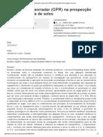 Aplicação Do Georradar (GPR) Na Prospecção Eletromagnética de Solos