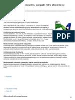 formula-as.ro-BINE DE ŞTIUT - Simpatii şi antipatii între alimente şi medicamente