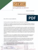Lettre de José APARISI aux membres du MEDEF-NC