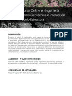 Folleto - Curso Online en Ingenieria Sismo-Geotecnica e Interaccion Suelo-Estructura