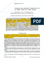 (1987) Coupled Longitudinal and Bending Vibrations of a Rotating Shaft With an Open Crack