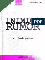 Inimigo Rumor (Capas e Editoriais)