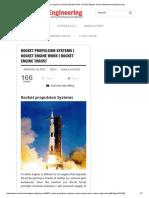 Rocket Propulsion Systems _ Rocket Engine Work _ Rocket Engine Thrust _ Mechanical Engineering