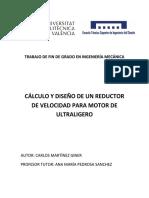 MARTÍNEZ - Cálculo y Diseño de Un Reductor de Velocidad Para Motor de Ultraligero