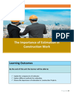 Brentwoodlearning1Importance of Estimation in Construction Work