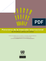 Panorama de la inserción internacional de América Latina y el Caribe