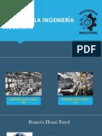Inicios de La Ingeniería Industrial