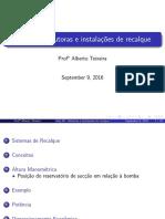 Aula 08 - Adutoras e Instalacoes de Recalque