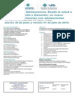 Informacion Jornada Adolescencia Clinica Alemana