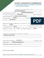 Formato Para Solicitud de Ingreso Nicaragua