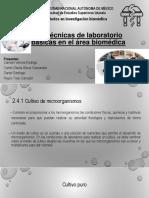 2.4 Técnicas de Laboratorio Básicas en El Área Biomédica