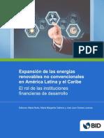Expansion de Las Energias Renovables No Convencionales en America Latina y El Caribe El Rol de Las Instituciones Financieras de Desarrollo