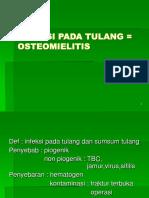 INFEKSI PADA TULANG = OSTEOMIELITIS