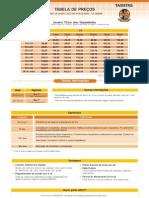 Tabela de Preco Sinditaxi Dix - Divicom