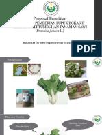 Pemberian Pupuk Organik Cair Terhadap Pertumbuhan Dan Hasil