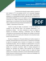 DECLARACIÓN POLÍTICA ENCUENTRO DISTRITAL AMPLIADO