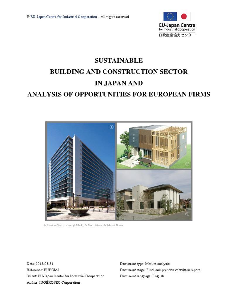 3586cbad4648 Japanese Sustainable Construction | Japan | European Union