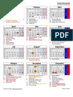Kalender 2017 Hochformat Feiertage Festtage