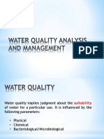 2 - Water Quality Analysis and Management