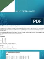 U2 Matrices y Determinantes