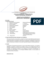 SILABOS D EPRACTICAS PROFESIONALES