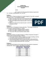 Exam#1 Practice Problems