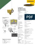 Sensor Ultrasónico QT50U Con Salida Analógica