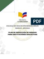EEBCMA Plan de Reducción de Riesgos 2017-2018