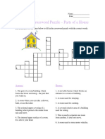 Advanced Crossword Puzzle, Parts of a House