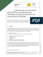 P_020 Auslegung, Bewertung Und Simulation Des Statischen Und Dynamischen Verhaltens Von Strukturbauteilen Mit Mineralischen Füllstoffen