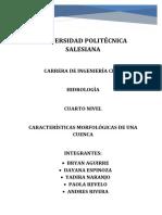 Trabajo de Hidrologia Cuencas