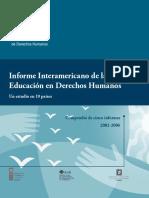 Informes interamericano de la  EDH