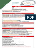 Road Test Checklist