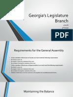 Georgia's Legislature Branch